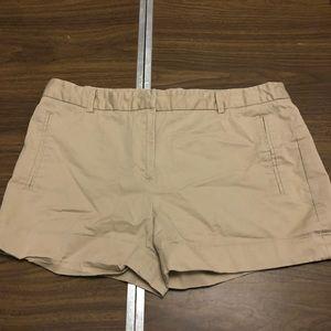 Zara Basic Tan Shorts Women's Size L